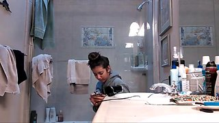 Innocent college girl bath voyeur