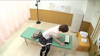 Busty Japanese dicked hard in spy cam massage sex video