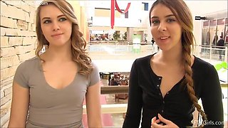 Kimmie And Mackenzie Meet At The Mall