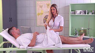 French Pornstar Eva Parcker Is The Nurse That Loves Her Tight Ass Fucked