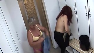 mature women in the locker room and shower