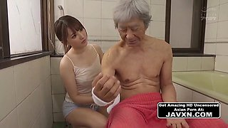 Horny Old Grandpa Loves This Teen
