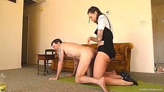 Femdom Wife Pegging And Self Facial