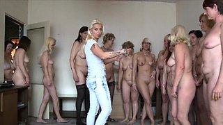 Amazing Mature Harem Orgy