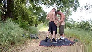 threesome fucking bare in nature