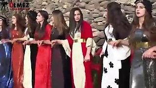 Kurdish dance of beautiful Kurdish women in Kurdish clothes