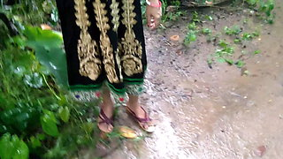 Best ever outdoor pissing and sex with my desi maid