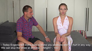 Blonde virgin Victoria gets hardcore defloration