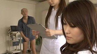 Hot Japanese nurses are having some crazy hot sex