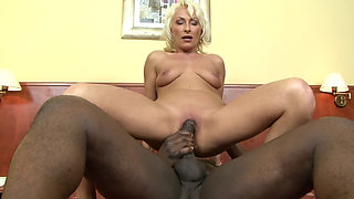 Sexy gilf in tight dress gets anal fucked by big black cock