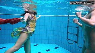 Bubarek and Birtakik enjoy eachother in the pool