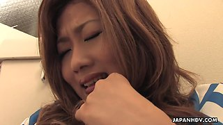 Why not to spy on horny Japanese beauty fingering herself in toilet