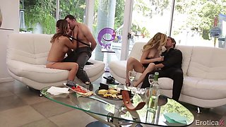 Melissa In Foursome Sex Orgy Procreation With Two Hottie Babes