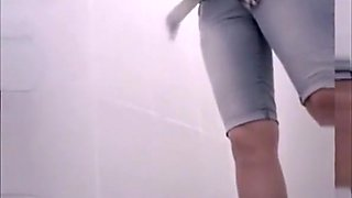 Video compilation of women in public toilet