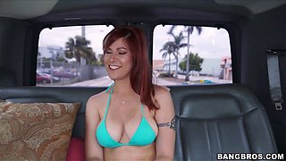 Amateur redhead Alessa Snow gets fucked in the ass by a stranger